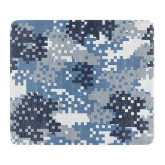 ピクセル青いカムフラージュ カッティングボード