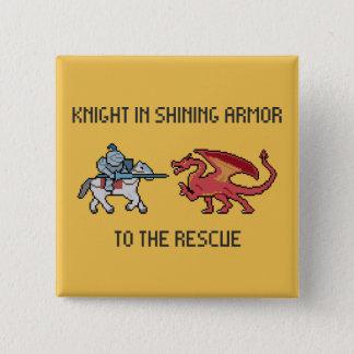 ピクセル騎士対ドラゴンボタン 5.1CM 正方形バッジ