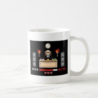 ピクセル「ボスのデザイン- GeekShirts コーヒーマグカップ