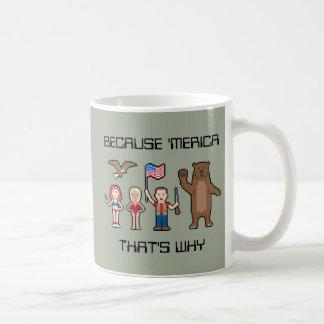 ピクセル「Mericaのカスタム コーヒーマグカップ