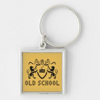 ピクセルHeraldic古い学校Keychain キーホルダー