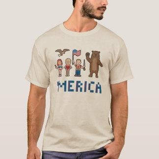 ピクセルMerica Tシャツ