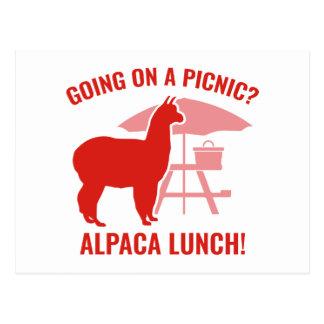 ピクニックで行くことか。 ポストカード