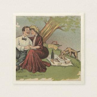 ピクニックの犬 スタンダードカクテルナプキン
