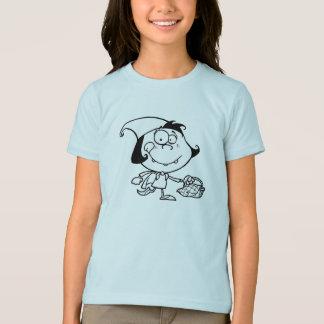 ピクニック女の子のTシャツで行っている小さな女の子 Tシャツ
