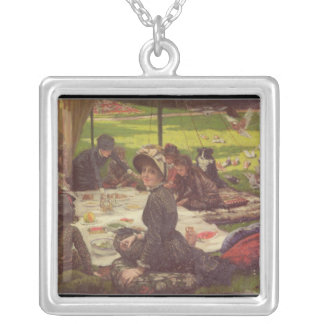 ピクニック、c.1881-2 シルバープレートネックレス