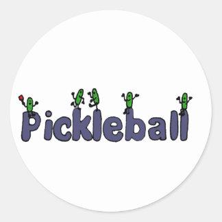 ピクルスが付いているPickleballのおもしろいな手紙 ラウンドシール