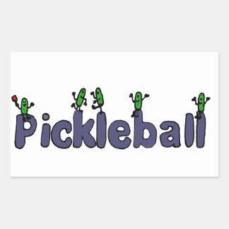 ピクルスが付いているPickleballのおもしろいな手紙 長方形シール