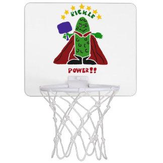 ピクルスの英雄のPickleballおもしろいなプレーヤー ミニバスケットボールゴール