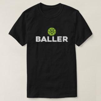 (ピクルス) Baller暗いPickleballのワイシャツ Tシャツ