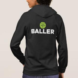 (ピクルス) Baller Pickleballのフード付きスウェットシャツ パーカ