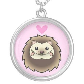 ピグミーのハリネズミ愛 シルバープレートネックレス