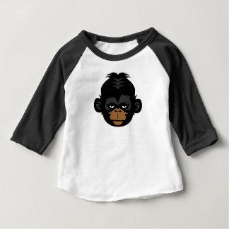 ピグミーチンパンジーのゴリラの子供のワイシャツ ベビーTシャツ