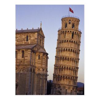 ピサのイタリア、タスカニー、ピサの斜塔 ポストカード