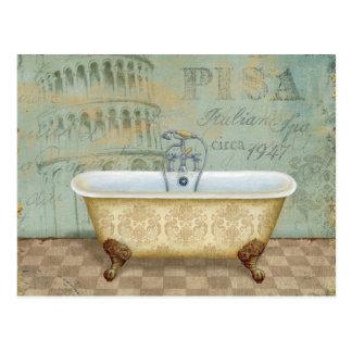 ピサのフランスのな浴槽そして斜塔 ポストカード