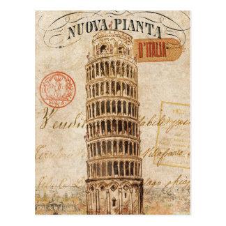 ピサのヴィンテージの斜塔 ポストカード