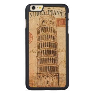 ピサのヴィンテージの斜塔 CarvedメープルiPhone 6 PLUS スリムケース