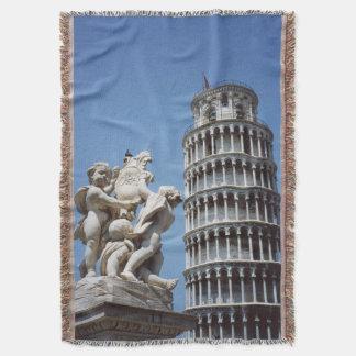 ピサの記念品のイタリアの斜塔 スローブランケット