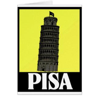 ピサの郵便はがきのデザインの斜塔 カード