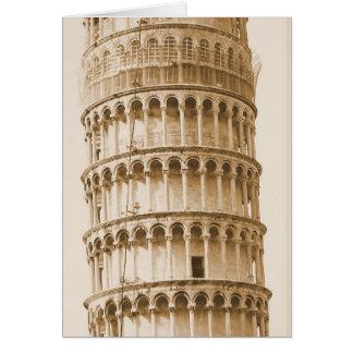 ピサのnotecardのヴィンテージの斜塔 カード
