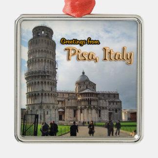 ピサイタリアからの挨拶 メタルオーナメント