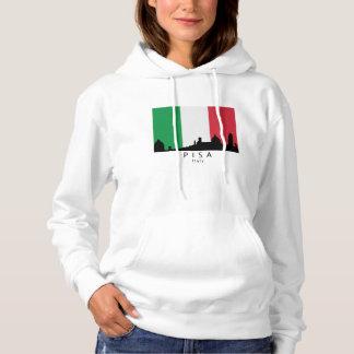 ピサイタリアのスカイラインのイタリア人の旗 パーカ
