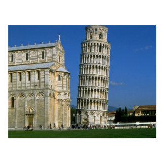 ピサ、イタリアのタワー ポストカード