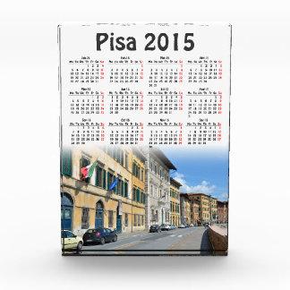 ピサ、イタリア2015のカレンダー 表彰盾