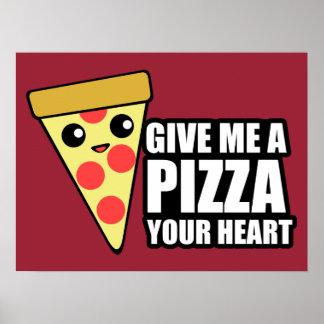 ピザあなたのハート ポスター