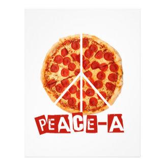 ピザおよび平和恋人のための平和 レターヘッド