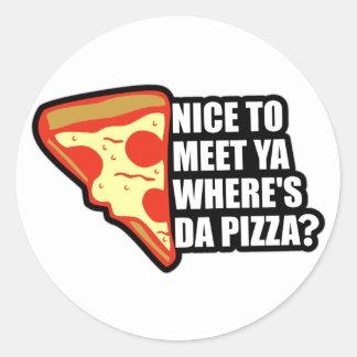 ピザがあるところ ラウンドシール