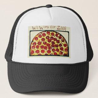 ピザのために働きます キャップ