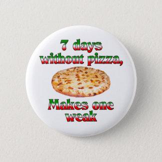 ピザのない7日 5.7CM 丸型バッジ