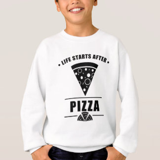 ピザの後の生命開始 スウェットシャツ