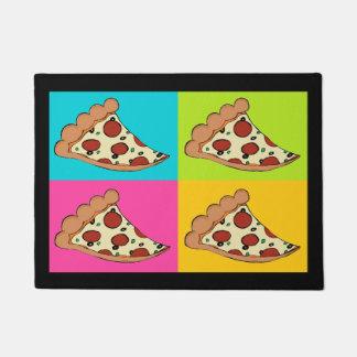 ピザはカスタムな玄関マットをスライスします ドアマット