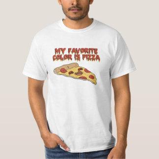 ピザは私のお気に入りのな色のTシャツです Tシャツ