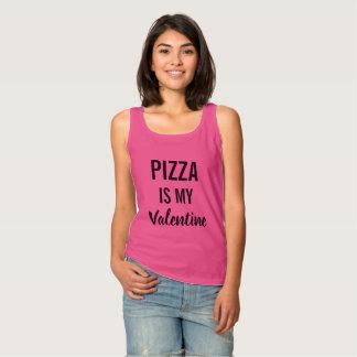 ピザは私のバレンタインです タンクトップ