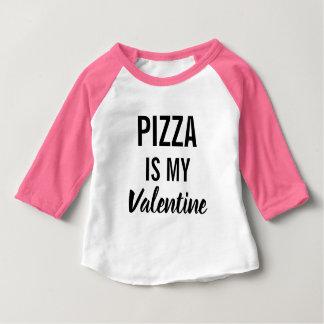 ピザは私のバレンタインです ベビーTシャツ
