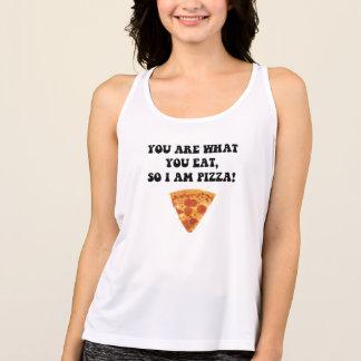 ピザを食べて下さい タンクトップ