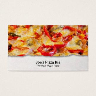 ピザカスタマイズ可能な食糧クローズアップの名刺 名刺