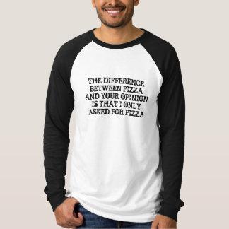 ピザタイポグラフィのワイシャツ-引用文のワイシャツ Tシャツ