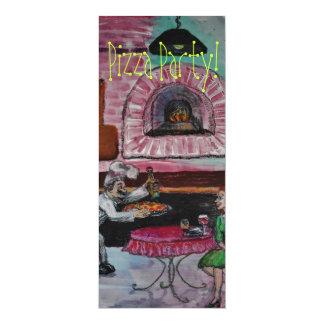 ピザパーティの招待状 カード