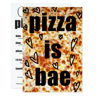 ピザパーティー招待かピザはBAEの招待です カード