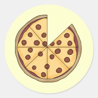 ピザピザピザ ラウンドシール