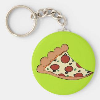 ピザ切れのデザイン キーホルダー