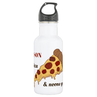 ピザ切れの名前をカスタムする及び文字の水差し ウォーターボトル