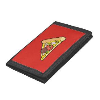 ピザ切れ ナイロン三つ折りウォレット