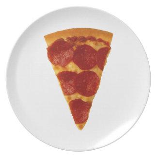 ピザ悪ふざけのプレート プレート
