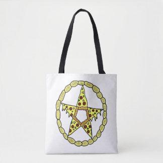 ピザ星形五角形 トートバッグ