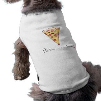 ピザ犬のワイシャツ ペット服